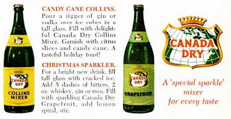 Dec 1961 Canada Dry Holiday punch - Christmas (3)