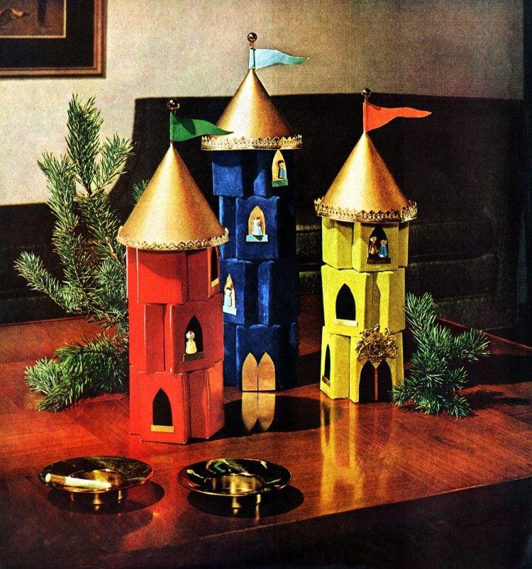 Dec 1963 Christmas castles home decor holidays