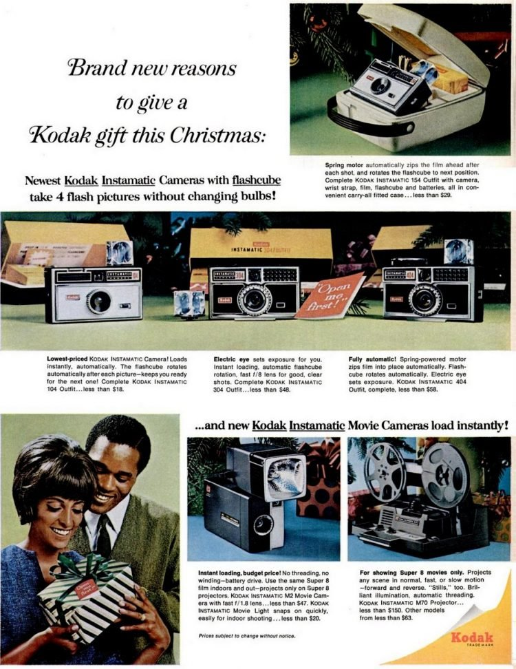 Dec 1965 Kodak Instamatic cameras