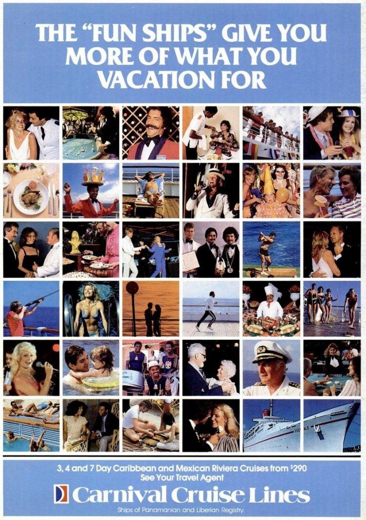 Dec 1984 Carnival cruises vintage