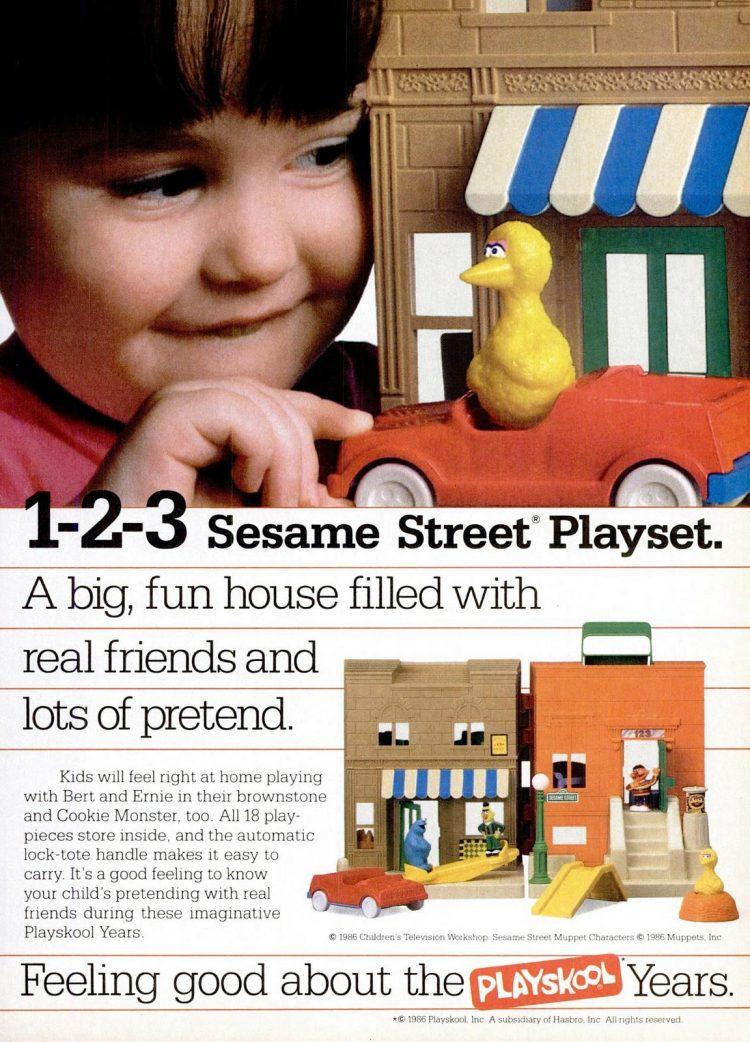 Dec 1986 - Playskool Sesame Street toys