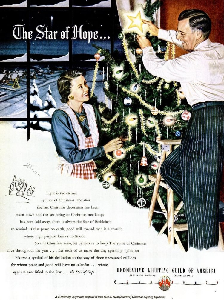 Dec 20, 1948 Christmas tree lights