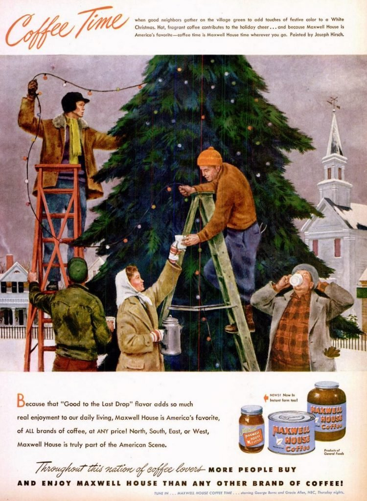 Dec 20, 1948 Outdoor lights on a Christmas tree