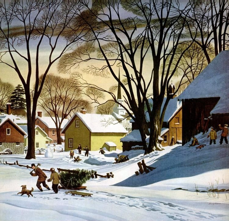 Dec 23, 1946 Christmas snowy scene