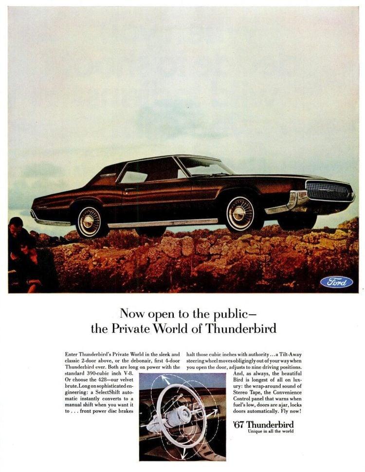 Dec 23, 1966 Ford Thunderbird cars for 1967