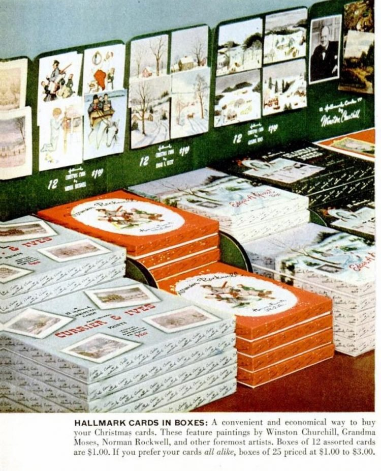Dec 4, 1950 Boxed Christmas Cards from Hallmark