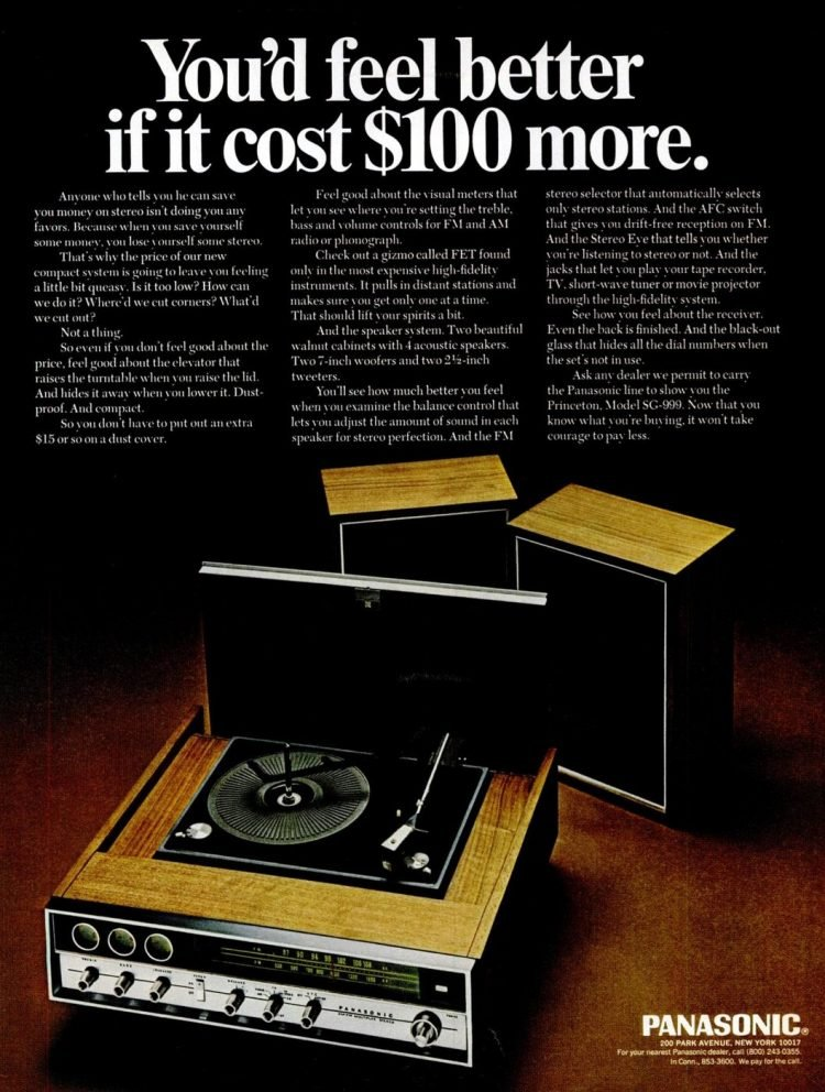 Dec 6, 1968 Panasonic turntable - Stereo