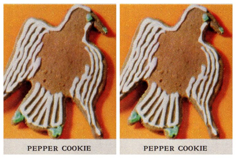 Decorated pepper cookies
