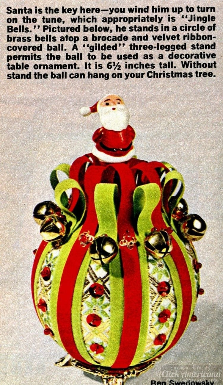 Decorative crafty Christmas tree ornament with Santa