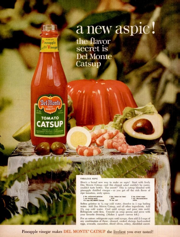 Del Monte catsup - aspic recipe 1960
