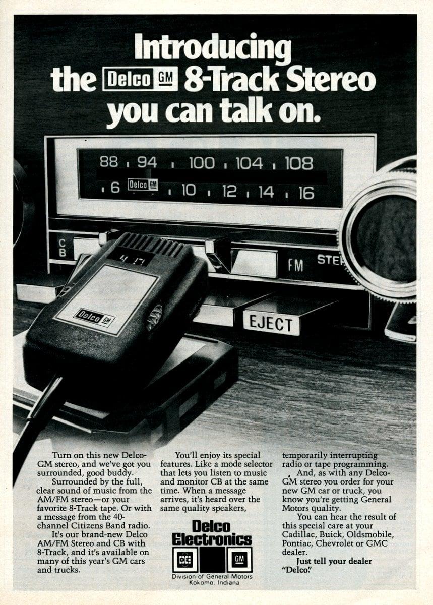 Delco car stereos with CB radio (1977)