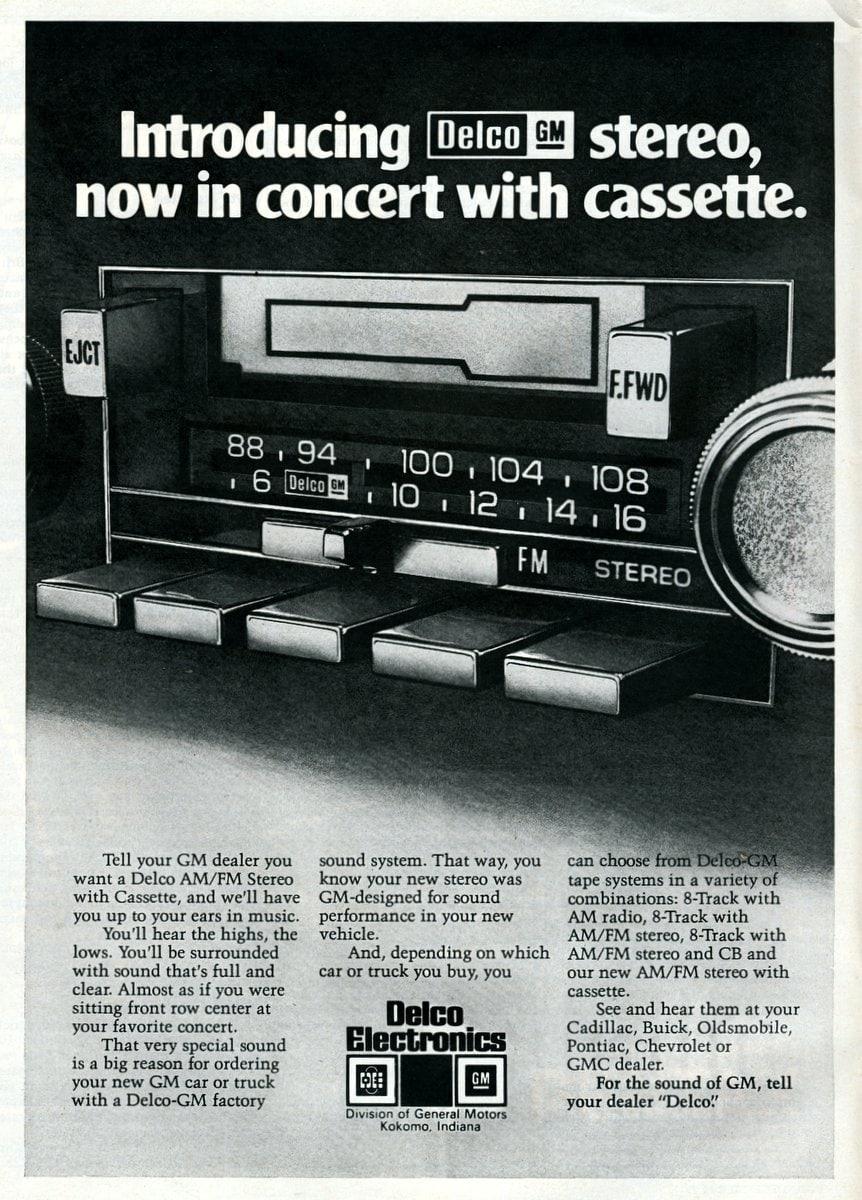 Delco car stereos with CB radio (1978)