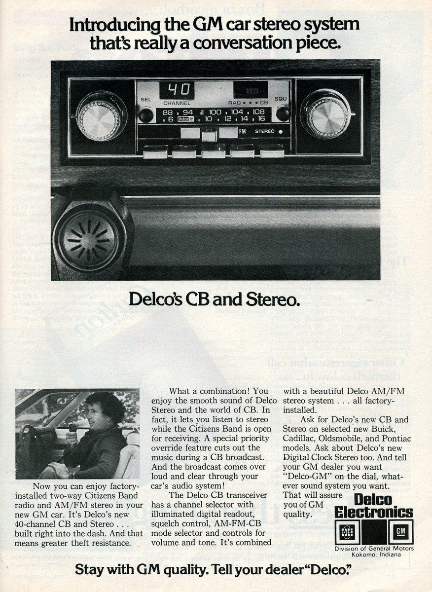 Delco car stereos with CB radio (1979)