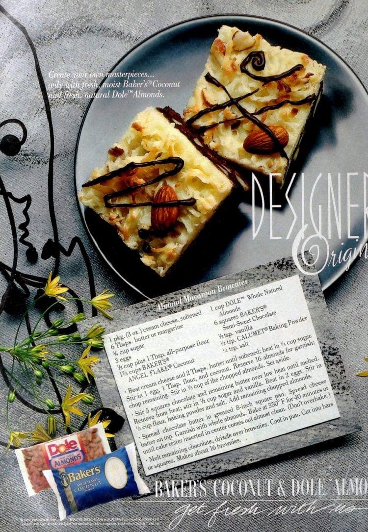 Delicious almond macaroon brownies - Retro recipe