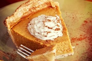 Delicious pie - could be vintage recipe marshmallow pumpkin pie