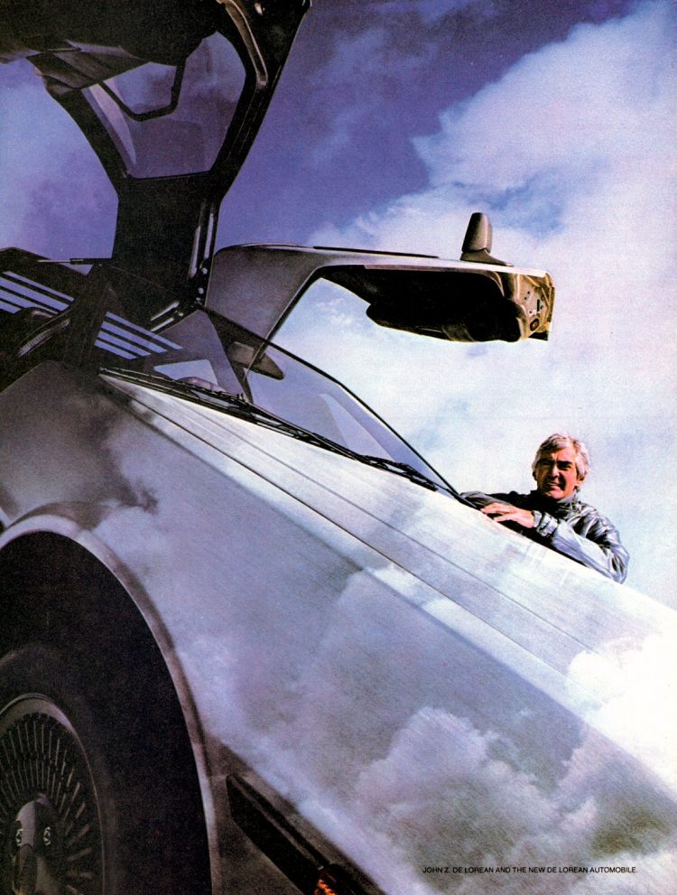 Delorean - Live the dream vintage ad from 1981