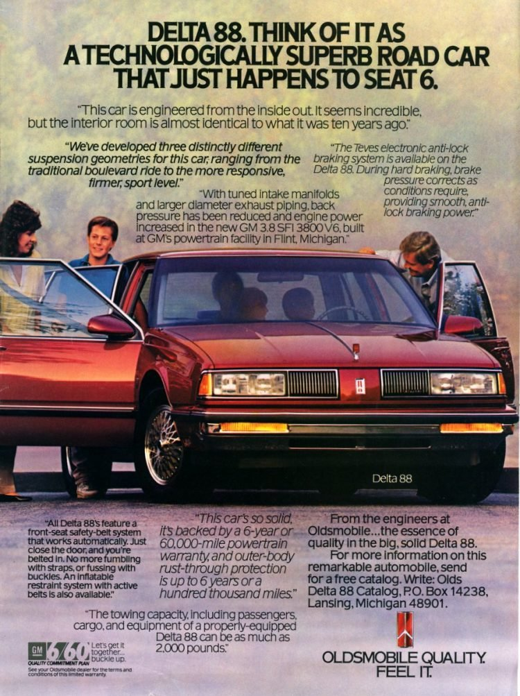 Delta 88 Oldsmobile quality. Feel it.
