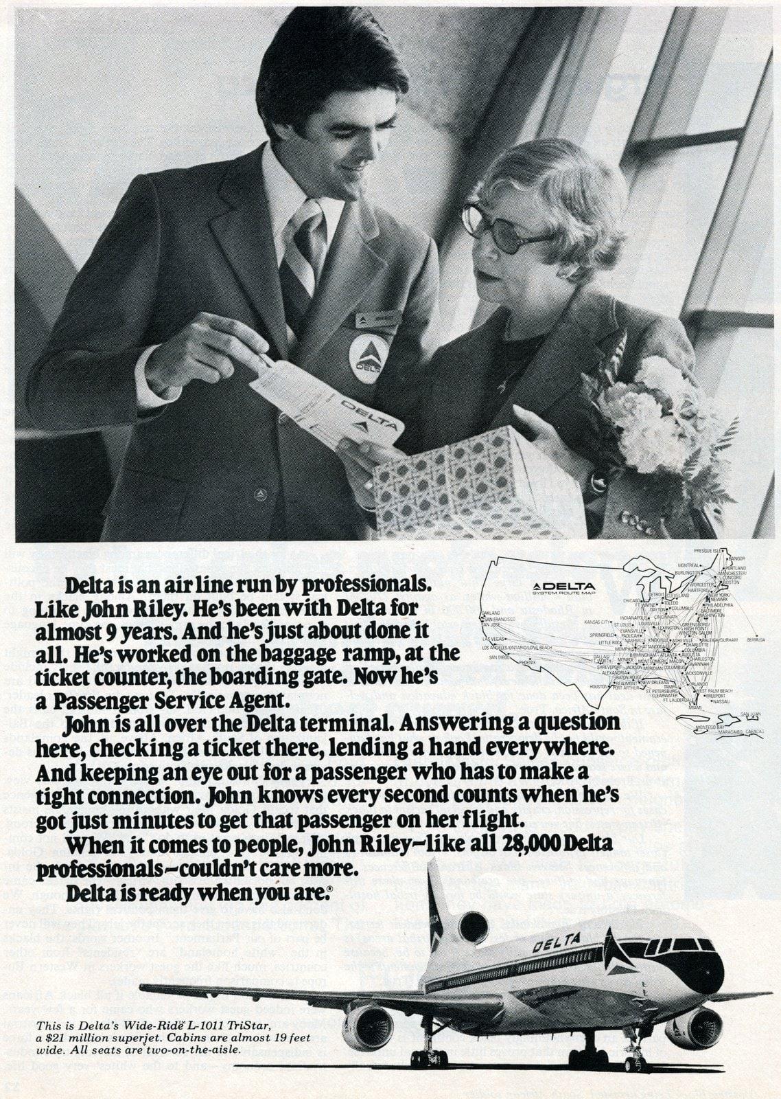 Delta Airlines Passenger service agent John Riley