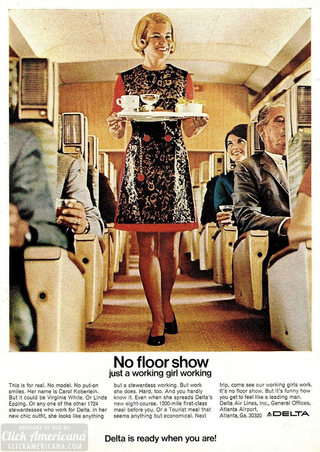 Delta Airlines vintage 1960s