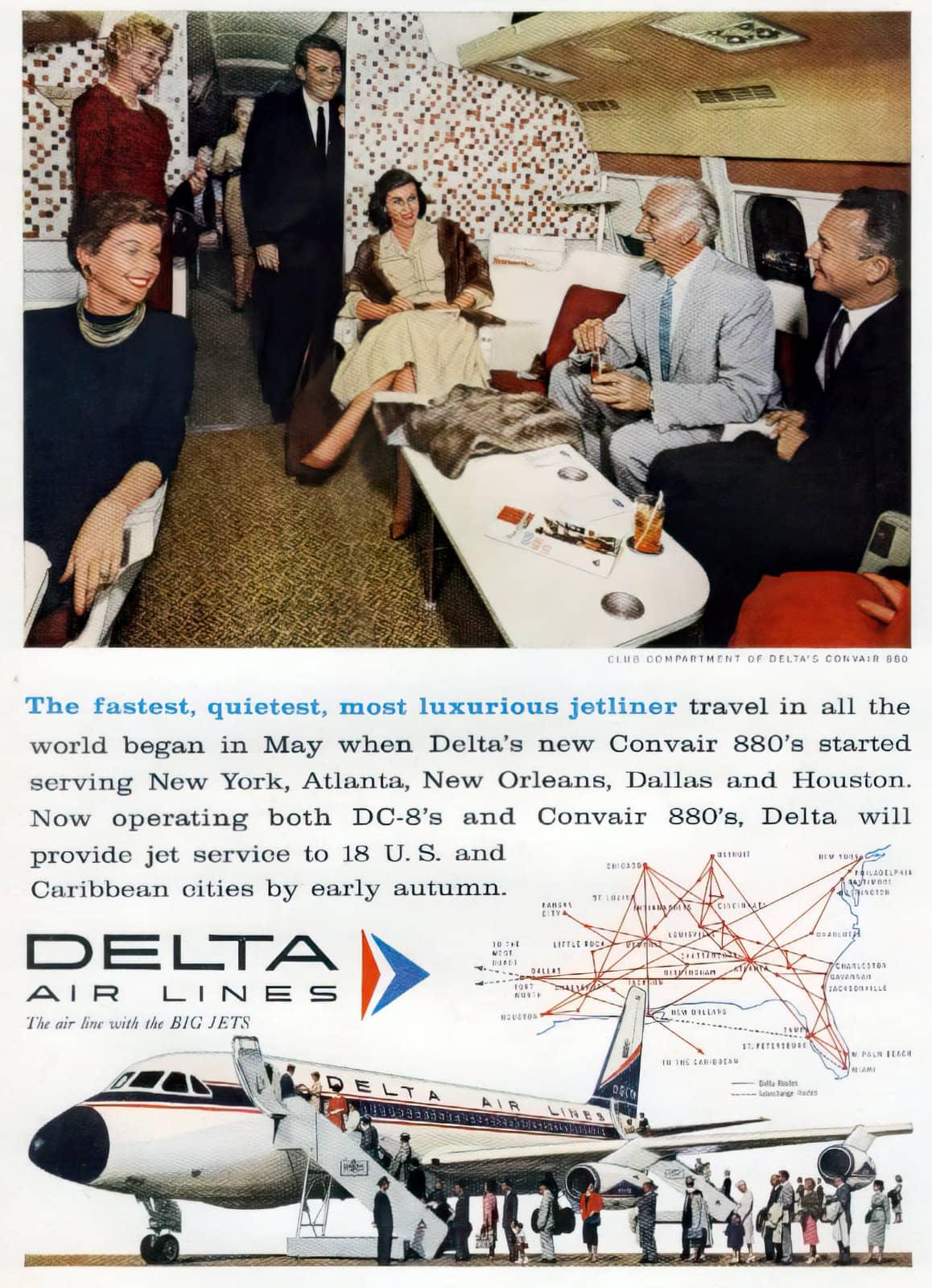 Delta Convair 880 planes (1960)