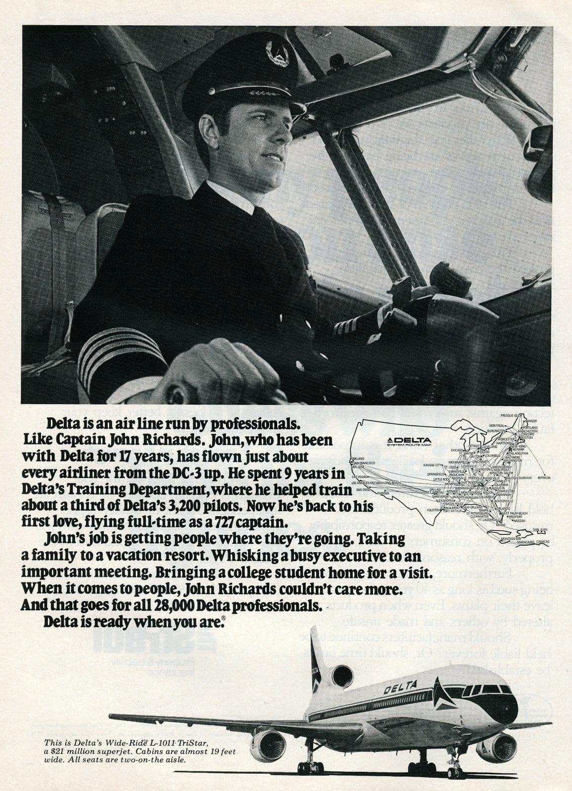 Delta Pilot Captain John Richards (1977)