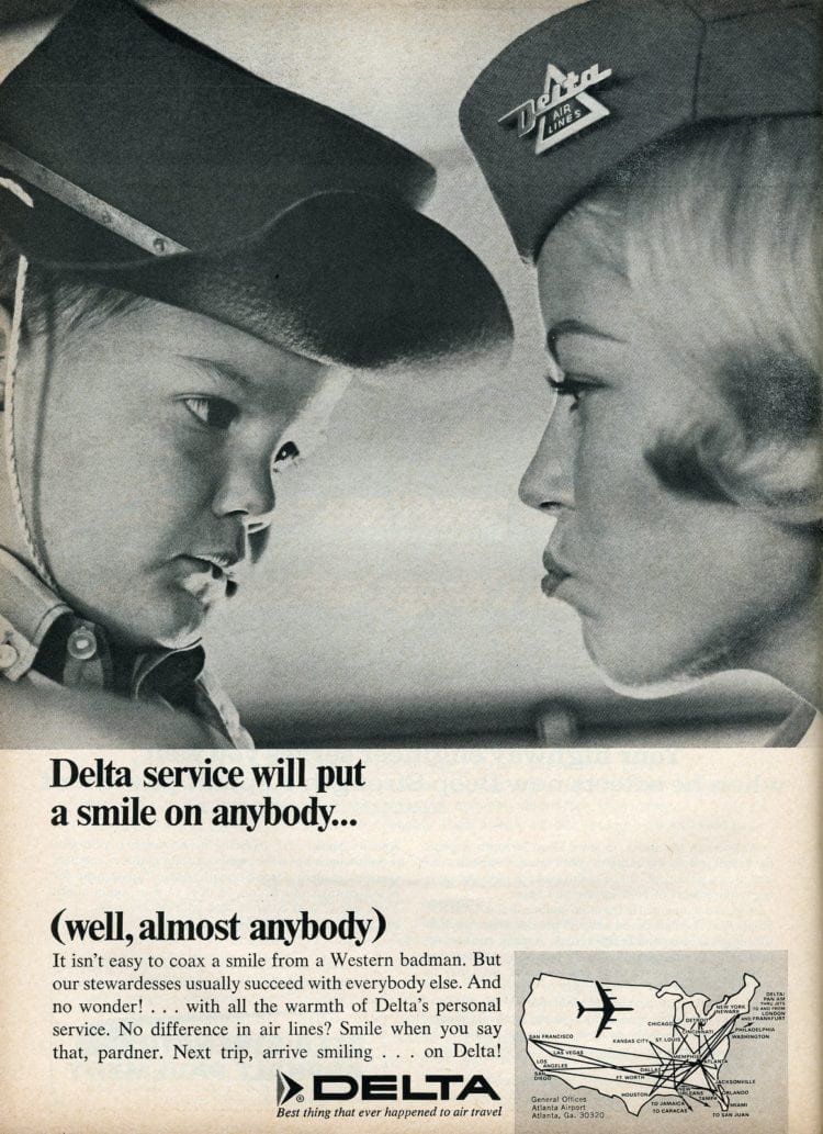 Delta airlines stewardess in 1966