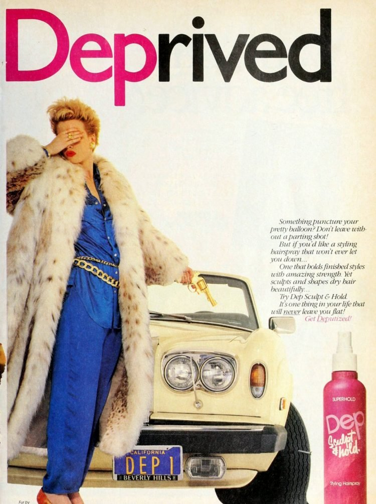 Dep brand sculpt and hold hairspray 1987