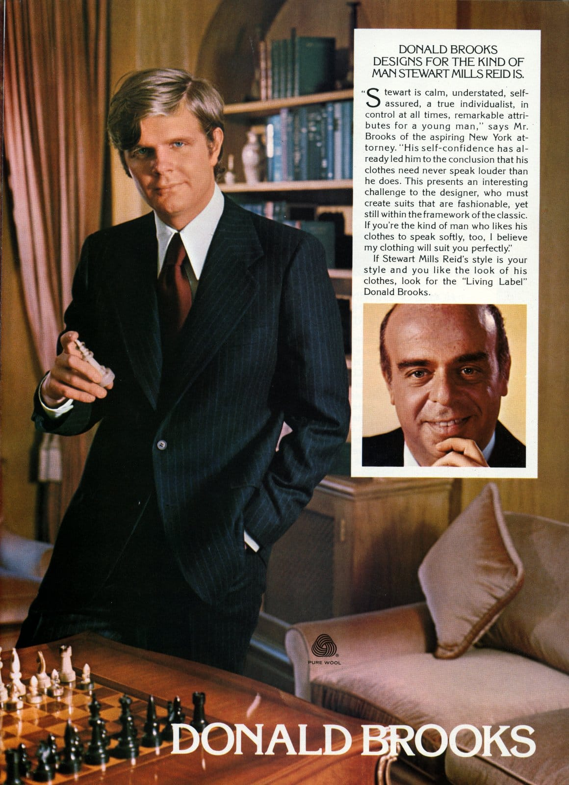 Designer suits for men from 1976 - Donald Brooks - Stewart Mills Reid