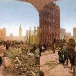 Destruction after San Francisco's 1906 earthquake Color photos