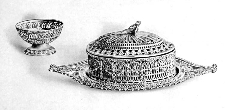 Detailed antique silver