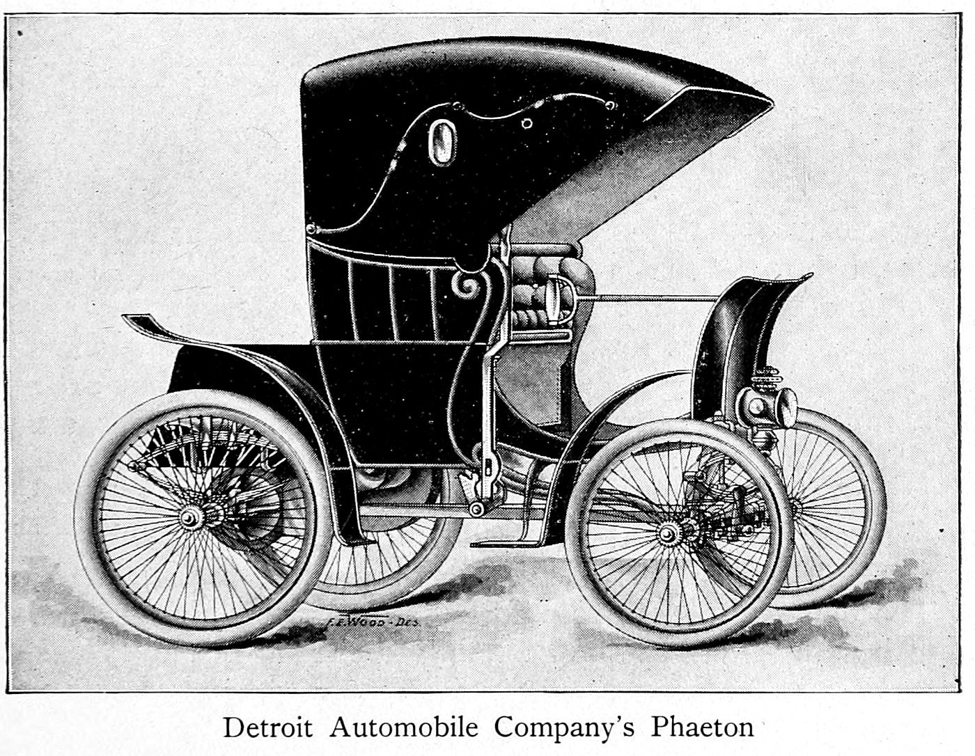 Detroit Automobile Company's Phaeton motor car (1900)