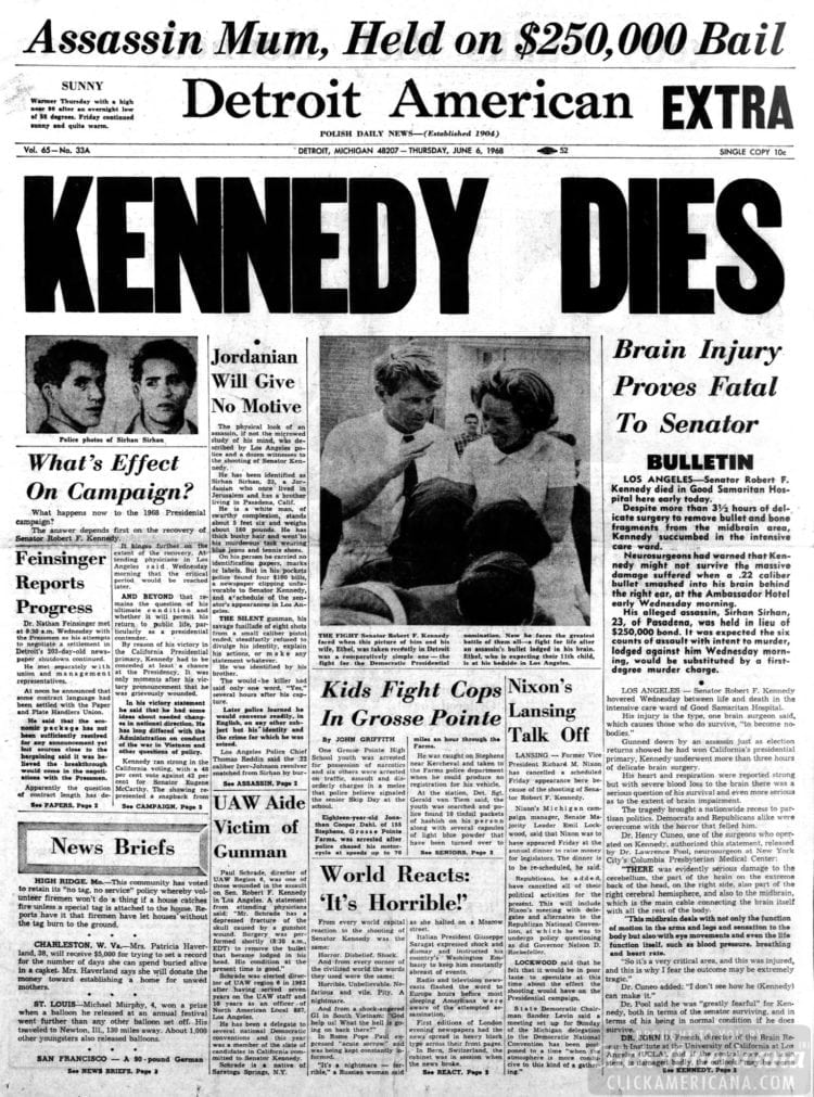 Detroit_American Bobby Kennedy dies - June 6 1968