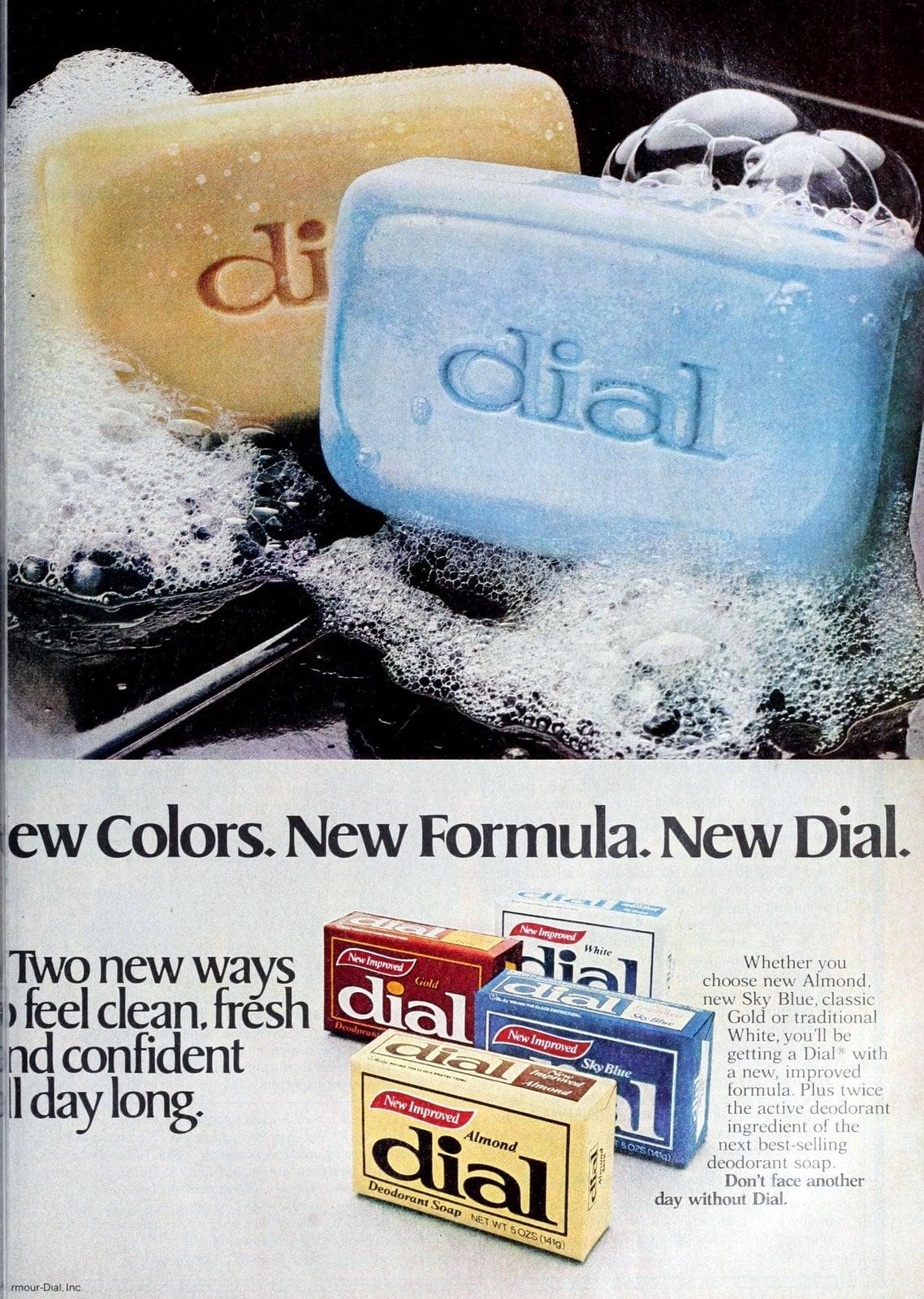 Dial soap - New colors - new formula (1980)