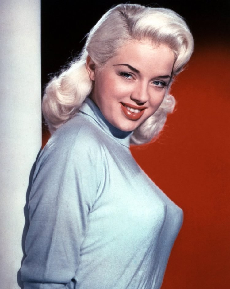 Diana Dors in vintage sweater bra