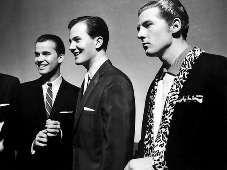 Dick Clark, Pat Boone and Jerry Lee Lewis 1958