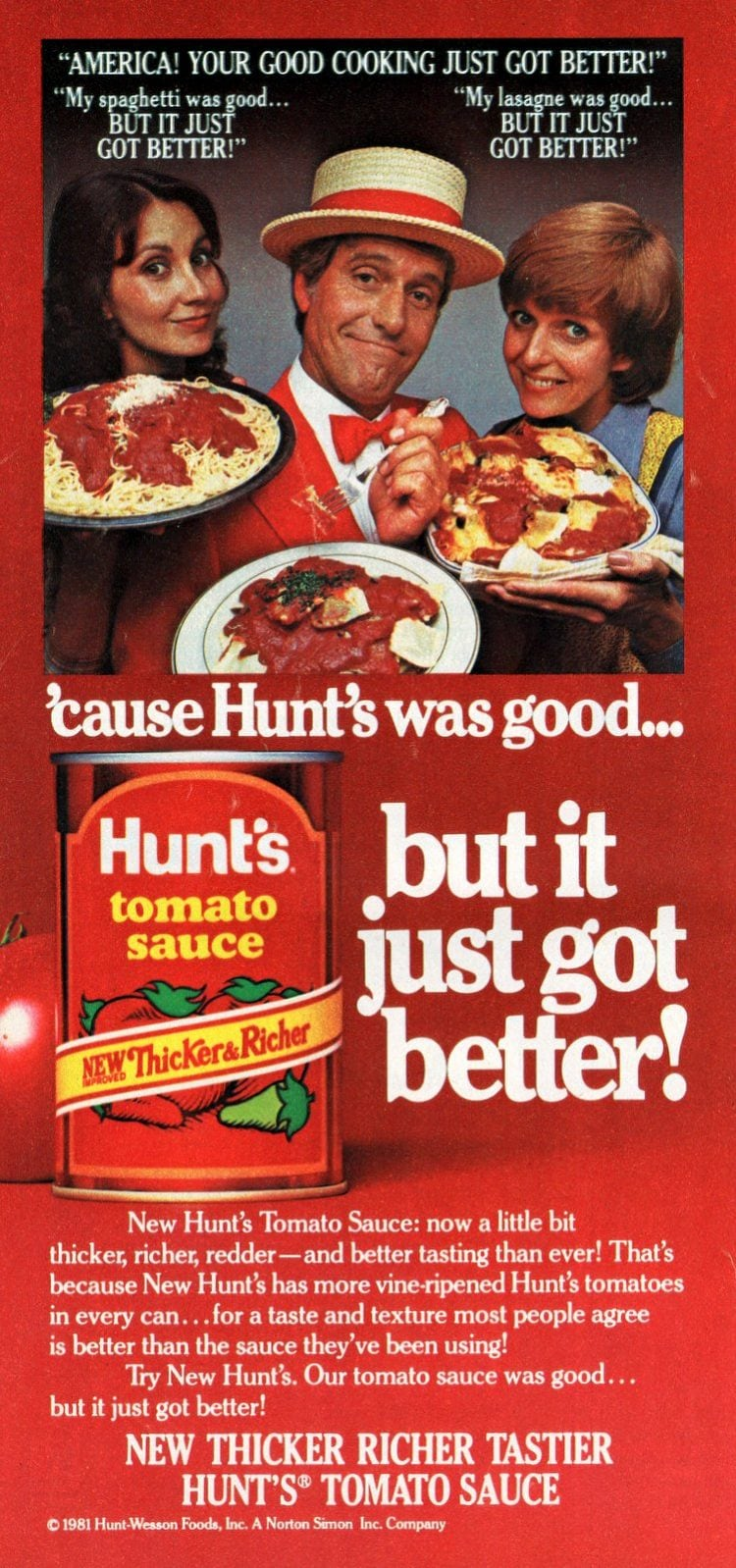 Dick Van Dyke for Hunts - Feb 1982