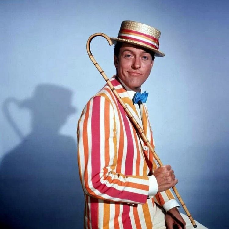 Dick Van Dyke in Mary Poppins classic movie