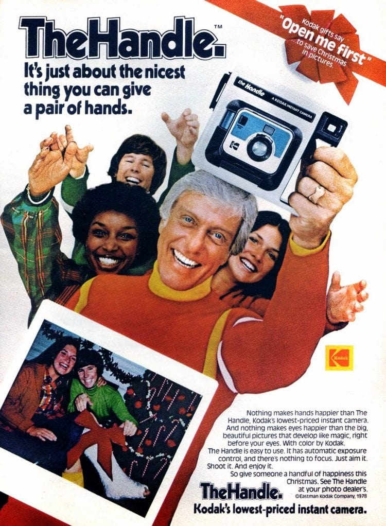 Dick Van Dyke the handle Kodak camera