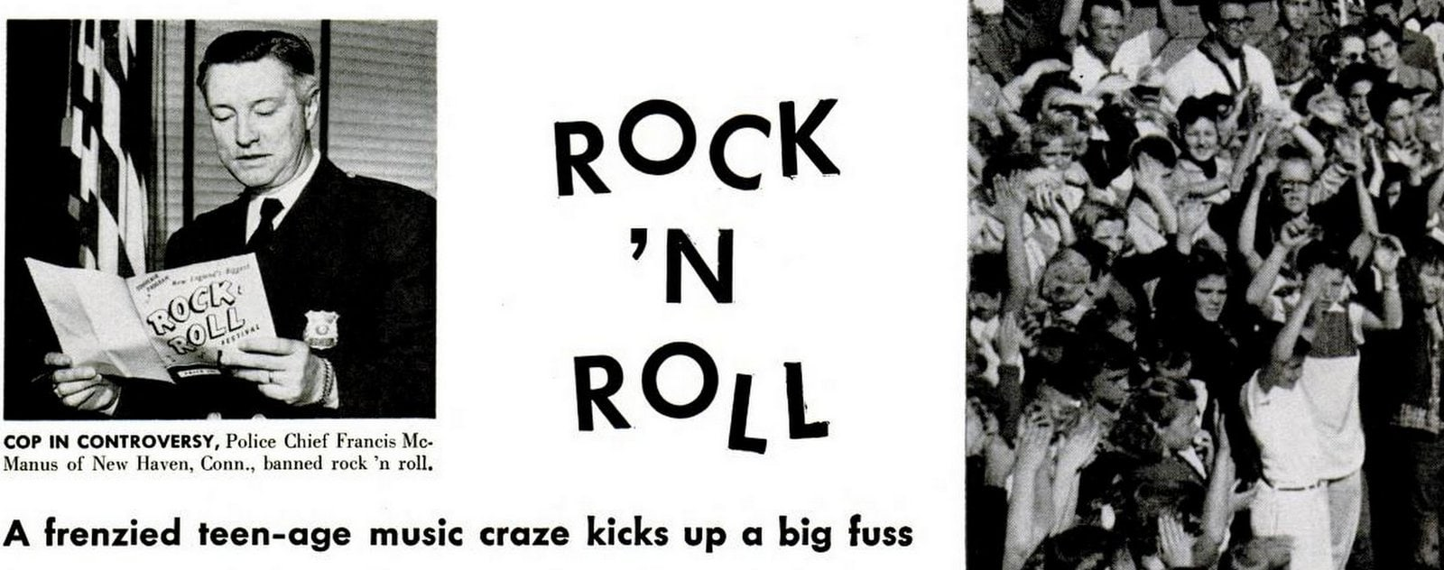 Did they really ban rock 'n' roll music - 1955