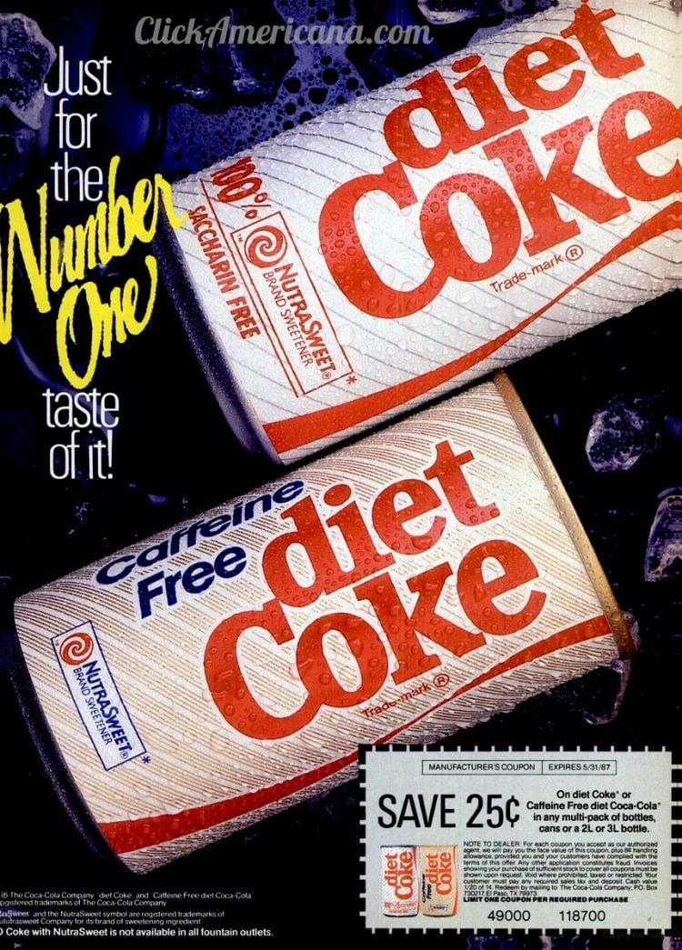 Caffeine-free Diet Coke vintage ad 1986