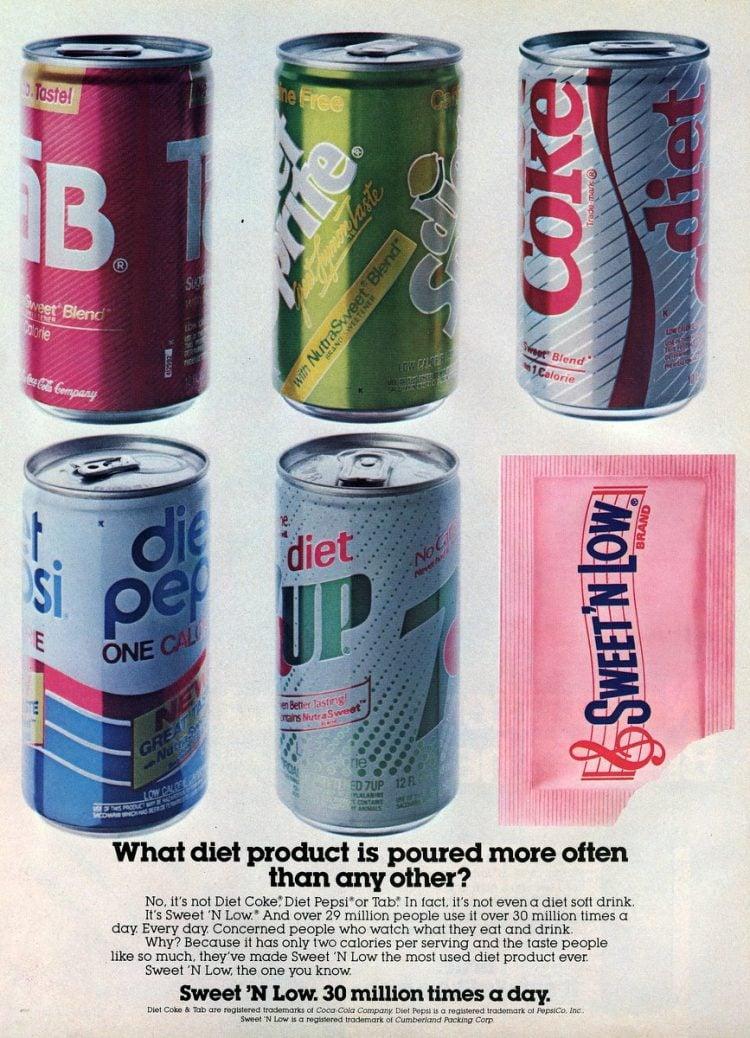 Diet Sodas from 1985