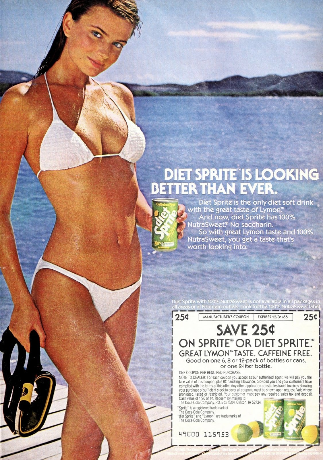 Diet Sprite looking better than ever (1985)