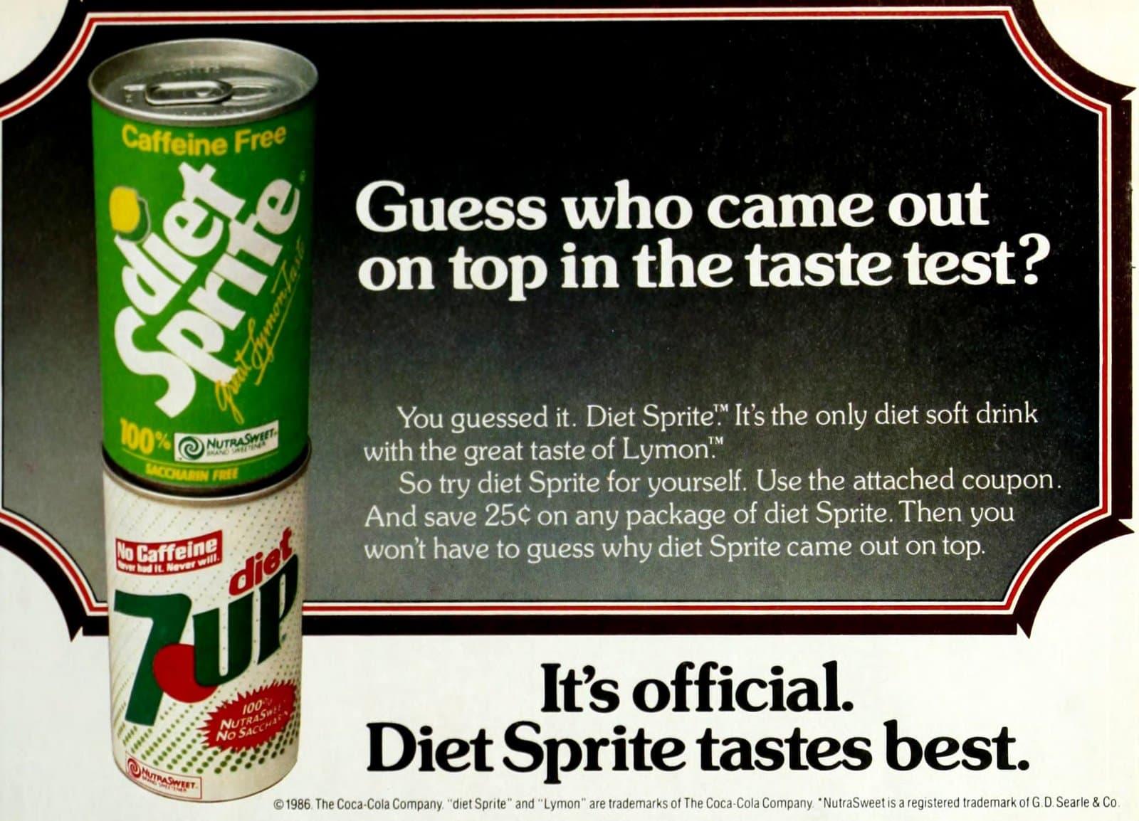 Diet Sprite vs Diet 7-UP (1986)