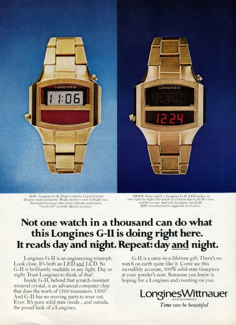 Digital watches 1977
