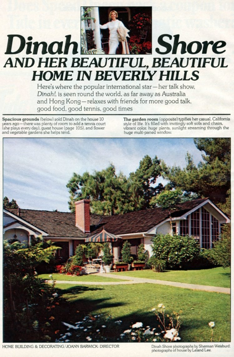 Dinah Shore's Beverly Hills house in 1978 (3)