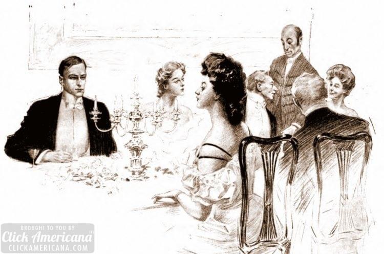 Dinner party - September 1905