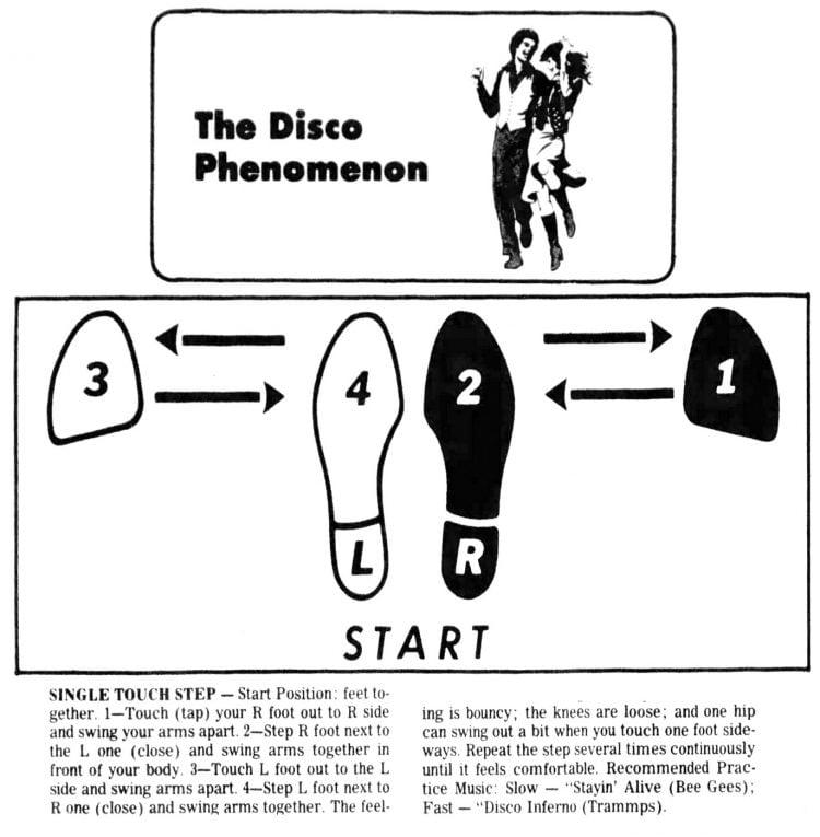 Disco dance step diagrams (2)