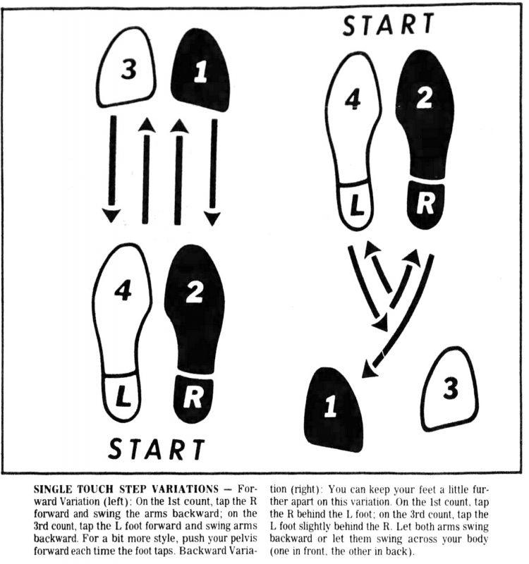 Disco dance step diagrams (3)