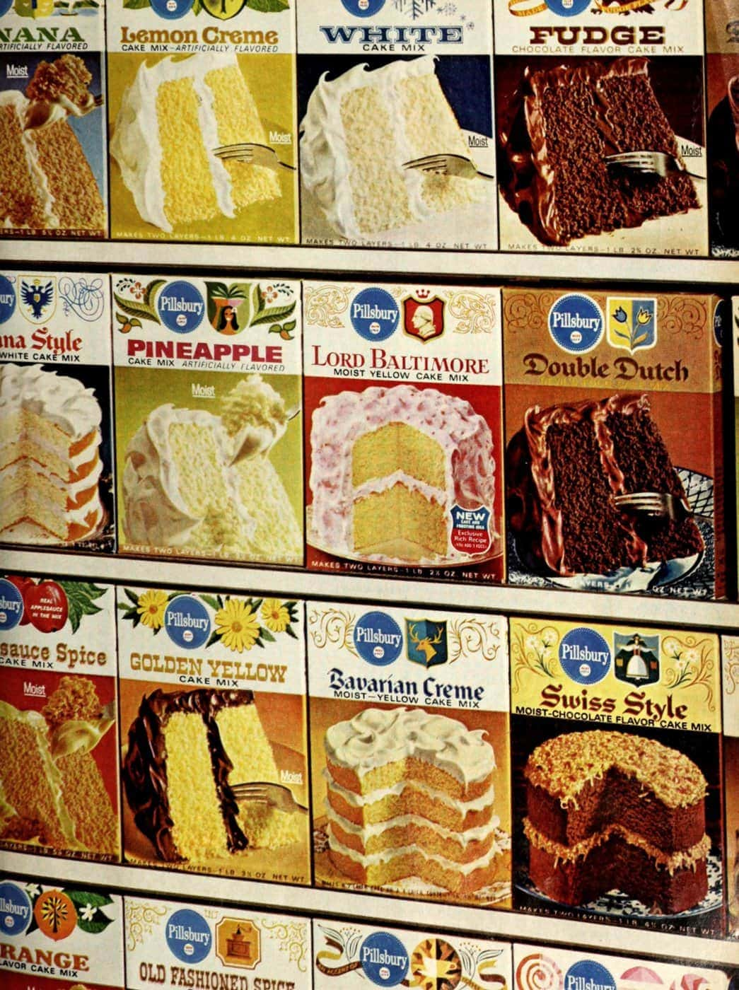 Discontinued cake mix flavors 1965