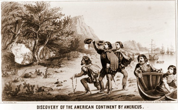 Discovery of the American contintent by Americus - 1852